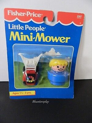 VINTAGE 1992  FISHER PRICE # 2397 CHUNKY LITTLE PEOPLE MINI MOWER New