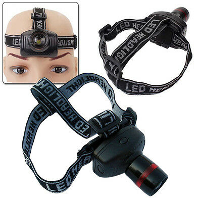 3W CREE LED Headlamp Flashlight Zoomable Headlight Head Torch Lamp Light AAA UK