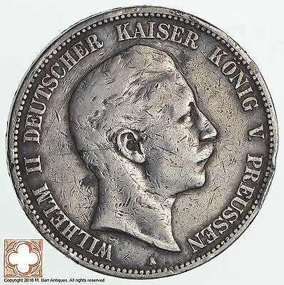 1903 German States Prussia 5 Marks *7501