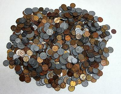14.5oz. Lot of Circulated U.S. Plastic Play Money Coins