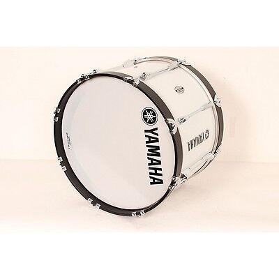 Yamaha Power-Lite Marching Bass Drum White Wrap, 20x13 888366021118