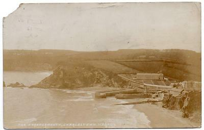 1905 CHARLESTOWN Harbour Mouth St Austell  Cornwall  Photo  Postcard