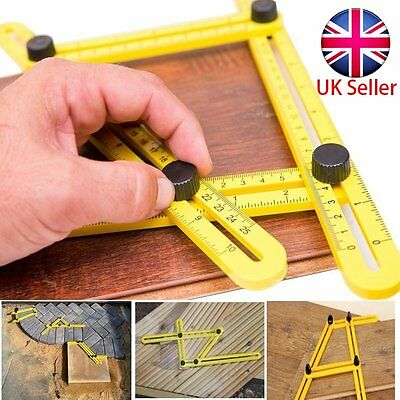 Angleizer Multi-Angle Ruler Template Tool Tile Floor Measuring Instrument 4 Fold