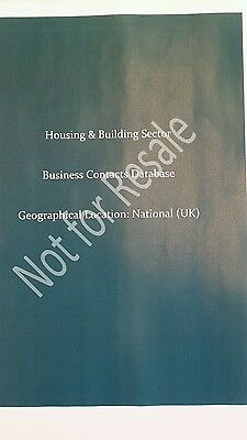 4,000 UK Business Contacts Mailing List / Database (Housing & Building Industry)