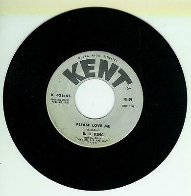 B B King Single Please Love Me / Baby Look At You Us Kent 421
