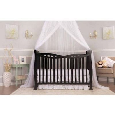 7-in-1 Convertible Crib, Baby Toddler Bed Nursery Furniture Cherry NEW