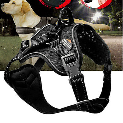 UNHO Adjustable No-pull Safe Dog Harness with Handle Pet Dog Walking Vest S-XL