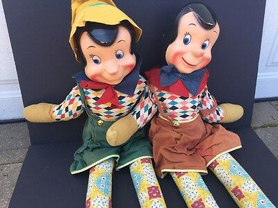 """Vintage 1940's Pinocchio 36"""" Doll Composition face - O'l Lanky Long"""