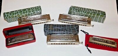 Hohner Harmonica Lot Collection Chromonica 260 270 Golden Melody Vintage G E C