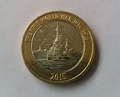 First World War Centenary Royal Navy £2 Two Pound Coin (2015)