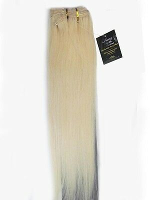 "22"" Full Head Real Natural 17 Clips In Human Hair Extensions Straight 100gr #60"