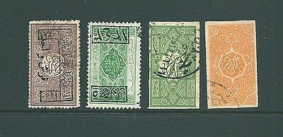 SAUDI ARABIA - Vintage collection of early stamps including overprints