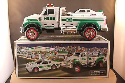 2011 Hess Toy Truck and Race Car ~ NEW ~ Lights W/Flashers & Sounds NIB