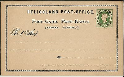 Attractive mint Helgoland dual currency postal stationery card from British era