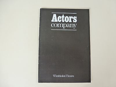 Wimbledon Theatre Programme 1977 Actors Company 'The Amazons' by A W Pinero