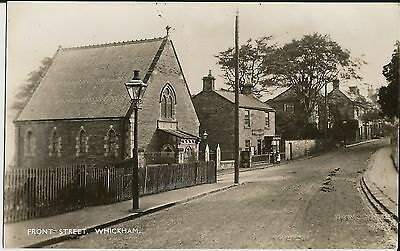 Front Street chapel and shop, Whickham, Co Durham, on unused real photo postcard