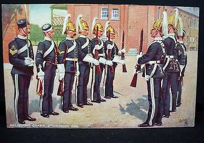 Tuck's Postcard WWI Relieving Guards 6th Dragoon Guards  Military Life Series