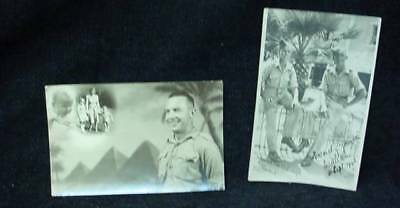 2 Photo Postcard WW2 Canadian Military In Cairo 1942