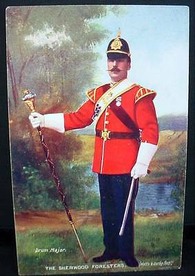 Tuck's Postcard WW1 Sherwood Foresters Notts & Derby Drum Major