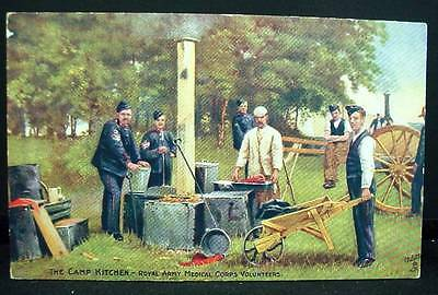 Tuck's Postcard WWI Camp Kitchen Royal Medical Corps Volunteers Life Series