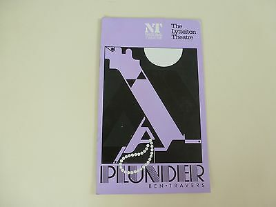 The Lyttelton Theatre Programme (National Theatre) 1976 'Plunder' by Ben Travers