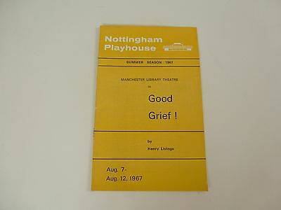 Nottingham Playhouse Theatre Programme 1967 'Good Grief' by Henry Livings