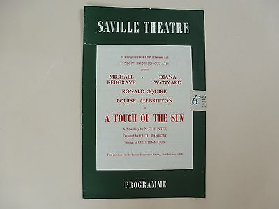 Saville Theatre Programme London 1958 'A Touch of the Sun' N C Hunter
