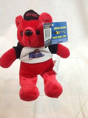 NSYNC Bear Justin Timberlake Limited edition 2000 collectible Plush NWT