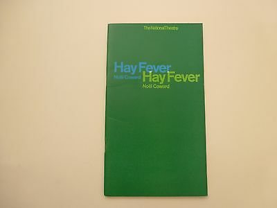 The National Theatre Programme Review Hay Fever Noel Coward 1960s