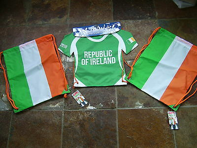 3 IRELAND gym sack  flag of Ireland SHIRT GYM SACK, Irish tricolour
