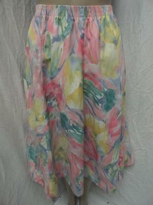 Women's Vintage Tumbleweed multicolored stretch skirt size- L