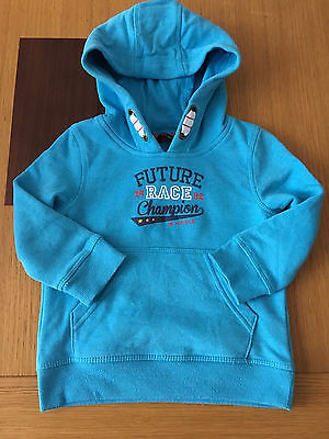 Gorgeous Baby Boys Blue Overhead Hoody Hooded Jumper Size 12 - 18 Months