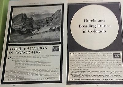 1900-1902 Burlington railroad ad lot Colorado
