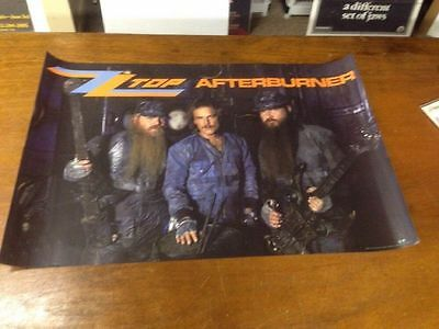 Zz Top 1986 Afterburner Promotional Poster Rolled Unused!!!+