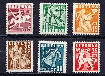 "Lithuania 1940 ""Liberty"" Issue - 6 mint hinged values - (50)"