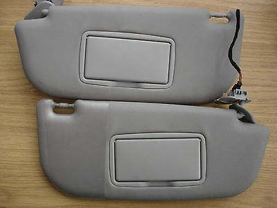 Alfa Romeo 147 Pair of Sun Visors with Mirrors and lights in grey