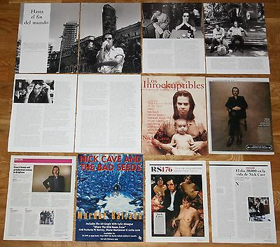 NICK CAVE spain & uk clippings photos magazine articles Bad Seeds Grinderman