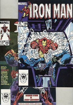 Iron Man #199 and #200 VF/NM