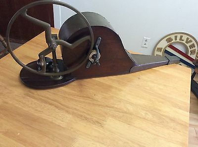 Antique Victorian Hand Crank Bellows Blower / works!