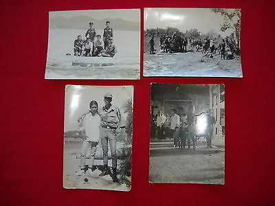 Lot Of 4 Vintage Photos, ARVN Soldiers And Civilian From Vietnam War Era