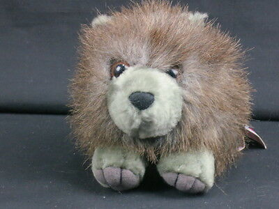 New Puffkins Collection Spike Shaggy Porcupine Plush Stuffed Animal Toy 6""
