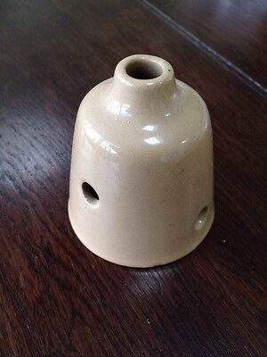 Brown -POTTERY PIE FILLER FUNNEL - Perfect