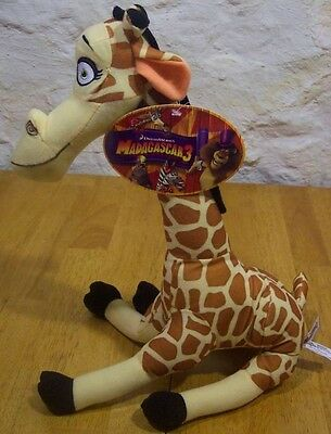 "Madagascar 3 MELMIN GIRAFFE 13"" Plush Stuffed Animal NEW W/ TAG"
