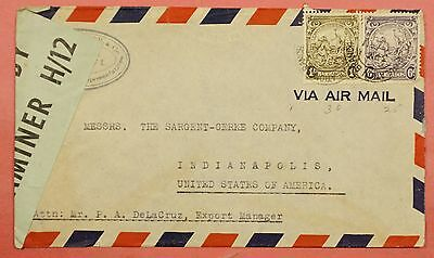 Barbados Airmail Cover To Usa Wwii Censored