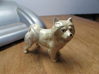 Vintage Cast Metal Chow Dog Figurine Paperweight