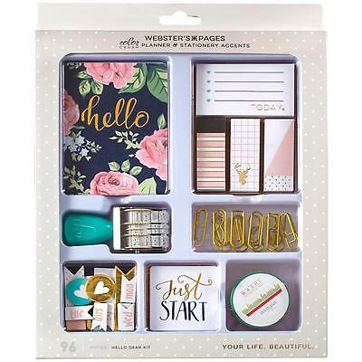 Webster's Pages Hello Dear Color Crush Planner & Stationery Accents Kit TRAY3