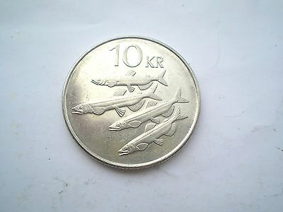 10 Kronur Coin From Modern Day Iceland-Dated -2005-Nice