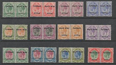 South West Africa Sg29-40 The 1924-6 Set Of 12 Fine Mint Cat £500