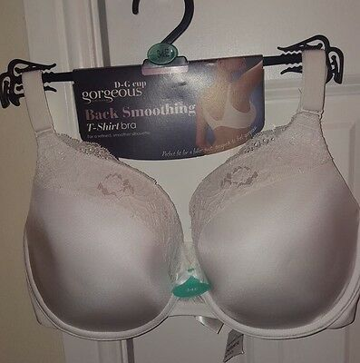 Lds  Debenhams White Back Smoothing T Shirt Padded U/wired Bra Size 34E Bnwt