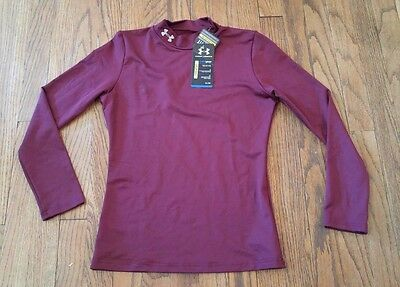 NWT Under Armour Fitted Coldgear Dry Sweat Wicking Long Sleeved Shirt Youth L